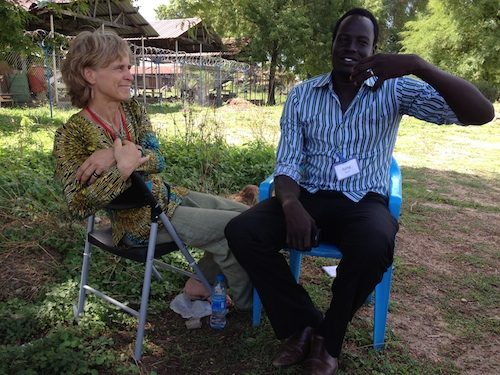 Gunilla and Ajing o Gu in South Sudan