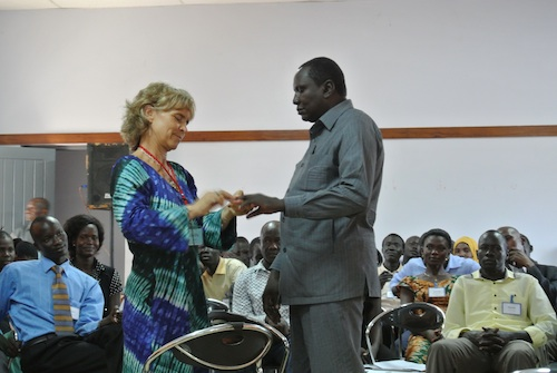 Gunilla performing TTT Training in South Sudan