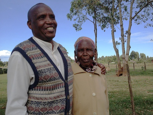 Joseph Wainana and his Mother